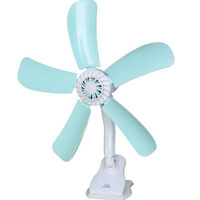Clip-on Electric Fan Five-leaf Clip Fan Household Small Fan Office Desk Clip Fan Breeze Fan
