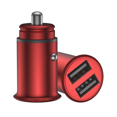 4.8A Dual Port USB Mini Zinc Alloy Car Charger