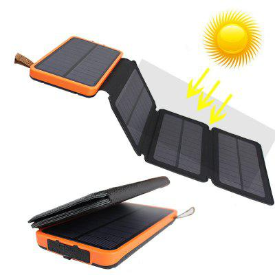 Waterproof Leather Folding Solar Mobile Power Supply 20000mAh Charger