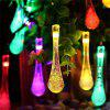 Solar Light String 30 LED Outdoor Water Drop Creative Garden Decoration Lantern Christmas Landscape Garden Lighting - WARM WHITE