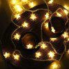 LED Star Lights Flashing Lights Starry String Lights Wedding Holiday Room Christmas Decoration Lights Photo Props - 4 METERS 40 LIGHTS STARS [COLOR PLEASE NOTE]