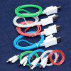 Android Type-C Light Mobile Phone Data Line LED Light Line USB Charging Line - TYPE-C INTERFACE - BLUE