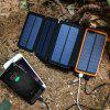 Waterproof Leather Folding Solar Mobile Power Supply 20000mAh Charger - WHITE