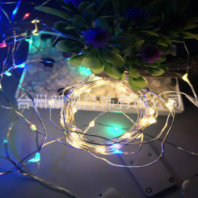 CR2032 Przycisk Battery Box Light String Lampa miedziana z miedzi miedzianej 2 metry 20 Lekka bateria Box Copper Wire Lamp Christmas Lights