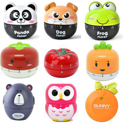 Kitchen Mechanical Timer Cartoon Timer Pomodoro 60 Minutes Chronograph Baking Cooking Reminder