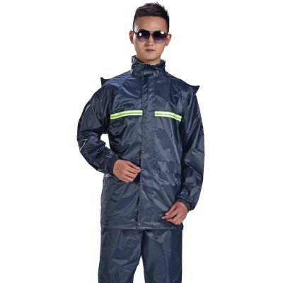 Red Bean Raincoat Reflective Male And Female Adult Riding Motorcycle Split Suit Double Raincoat Rain Pants Suit
