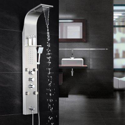 304 Stainless Steel Shower Screen Constant Temperature Shower Set Wall Mounted Wall-mounted Shower Shower Screen