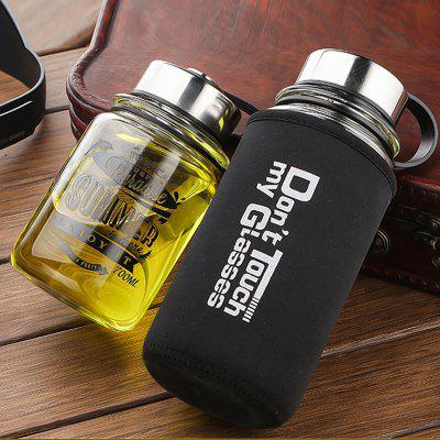 Surfing Cup Large Capacity Glass Tea Bottle
