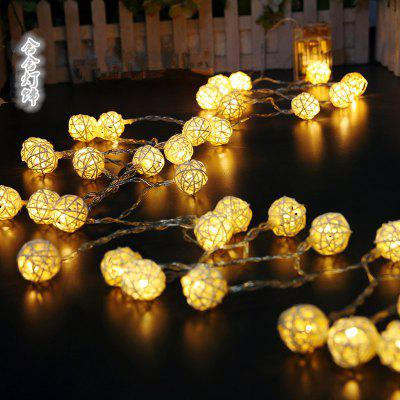 LED Thai Rattan Ball String Lights Ozdobny napis String String Light Christmas Lights Box Light String