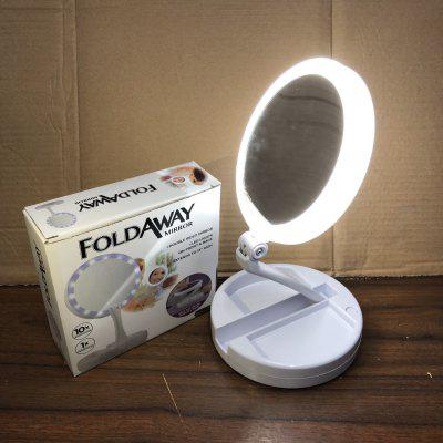 My FoldAway Multifunction Makeup Mirror Rechargeable Lamp Double Mirror Folding LED10Xpius1X Mirror