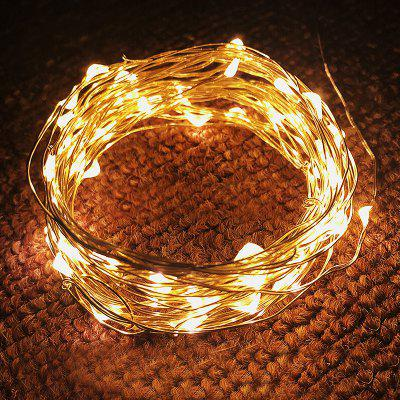 Button Battery Box Decoration Stars LED Copper Wire Light USB Holiday Outdoor Wire String