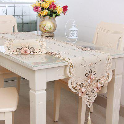 European Classical Embroidered Table Flag Tablecloth Home Dining Mat Home Fabric
