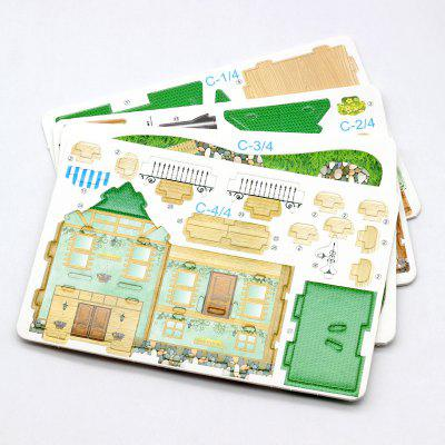 Children's Creative DIY Paper Toys Jigsaw Puzzle Intelligence Spell Insert Class Building Blocks Student Kindergarten Gifts