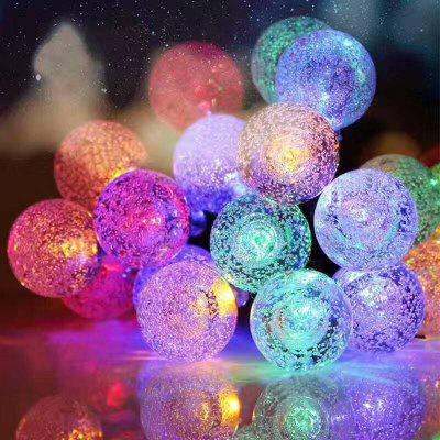 Solar Light String LED Beads Bubble Light String Christmas Day Bubble Decoration Outdoor Waterproof