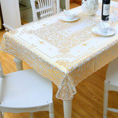 Lace Table Cloth Rectangular Household Bronzing Pvc Tablecloth