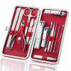 Stainless Steel Nail Clipper Black Nail Clipper Set Beauty Manicure Manicure Tool Set Yangjiang Beauty Set - DIAMOND RED 15 PIECE SET