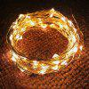 Button Battery Box Decoration Stars LED Copper Wire Light USB Holiday Outdoor Wire String - 1 METER 10 LIGHTS (BLUE)