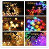 Solar Light String LED Beads Bubble Light String Christmas Day Bubble Decoration Outdoor Waterproof - POSITIVE WHITE