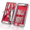 Stainless Steel Nail Clipper Black Nail Clipper Set Beauty Manicure Manicure Tool Set Yangjiang Beauty Set - RED SET OF 10
