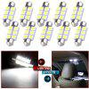 Car Led Bulb 6418 C5W 5050 6SMD 36mm Double-point Reading Lamp - 1 PRICE