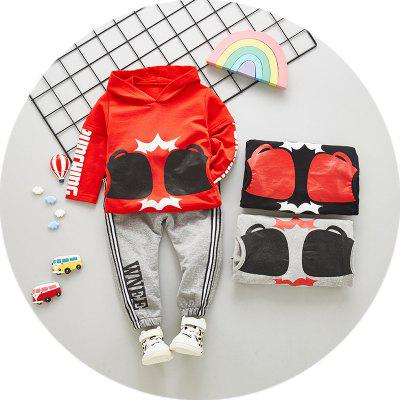 New Autumn Korean Children's Clothing In The Children's Hooded Cotton Soft Long-sleeved Children's Suit Two-piece Set