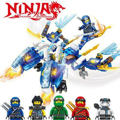 Small Particle Building Block Dragon Tribe Series Mech Puzzle Assembling Block