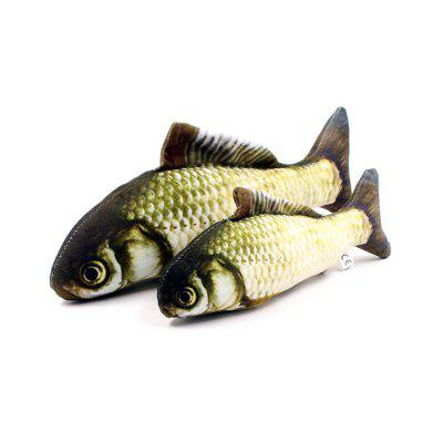 Cat Mint Fish Simulação Plush Cat Peixe Pillow Cat Toy Pet Toy