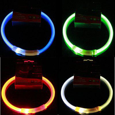LED Pet Light Collar USB Charging Collar Teddy Luminous Collar Small And Medium Large Dogs And Cats Cat Supplies