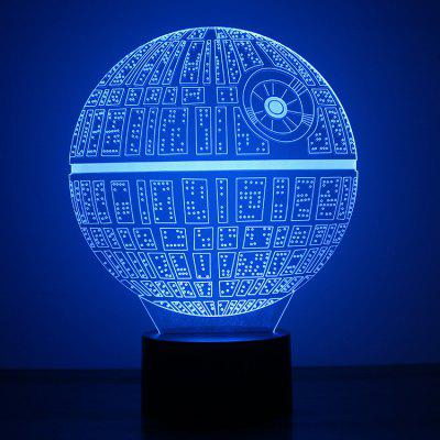 Explosion Death Star I Gift Night Light 3d Visual Table Lamp Acrylic Board Creative Home Light