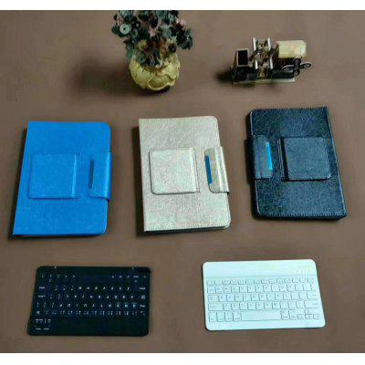 Universal Bluetooth Keyboard Flat Protective Cover Multi-function Bracket Leather Case Three Net Universal Keyboard Leather Case