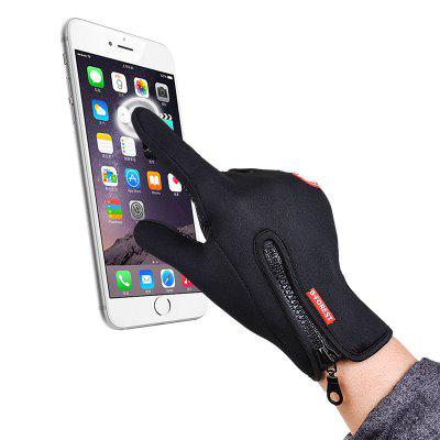 Outdoor Winter Cycling Waterproof Touch Screen Windproof Warm Gloves