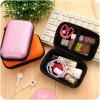T3038 Cute Portable Data Cable Storage Bag Storage Box - ORANGE