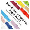 Universal Monochrome Single Hole Sports Silicone Strap for iWatch - ORANGE [38MM]