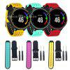 Smart Silicone Watch Strap Replaceable Wristband Sports Heart Rate Strap - OUTSIDE RED
