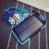 Small Three Anti-solar Mobile Power Camping Light 5000 MAh Solar Charger Charging Treasure - BLACK BACKGROUND