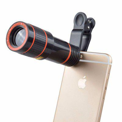 Universal Mobile Phone Telephoto Telescope Head HD External Camera Lens 12X Zoom Focus Phone Lens