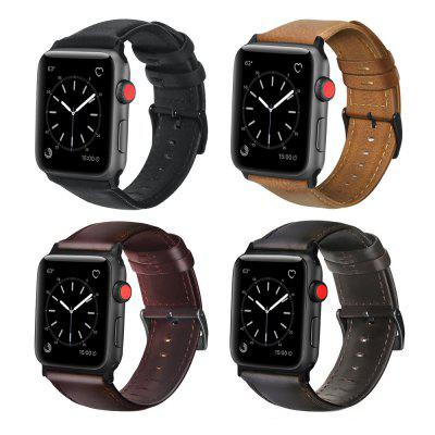 Oil Wax Leather Strap for iWatch / Apple Watch