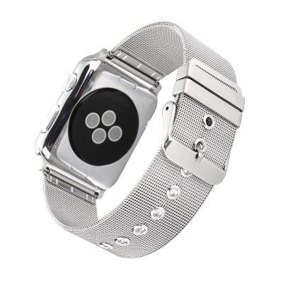 Stainless Steel Milanese Fine-grain Pin Buckle Strap For iWatch