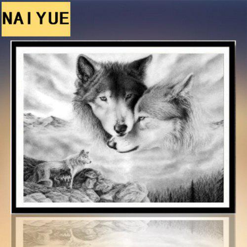 New 5d Diamond Painting Wolf Stick Diamond Cross Stitch Living Room