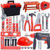Kinder Toolbox Set Baby Simulation Repair Tool Bohrmaschine Schraubendreher Reparatur Haus Toy Boy - [NET BAG] 31 SäTZE + HANDBOHRMASCHINE + GROßE KETTENSäGE