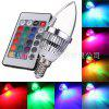 E14 3W RGB Candle Light Remote Control Colorful Lights Candle Light 3led 85-265V With 24 Key - RGB