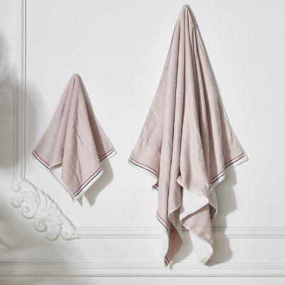 Simple Solid Color Towel Bath Towel Cotton Adult Soft Super Absorbent Big Men And Women Couple Wash Towel