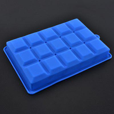 Silicone Ice Tray 15 Square Ice Cube Mold Bar Special Ice Box Food Supplement Storage Box