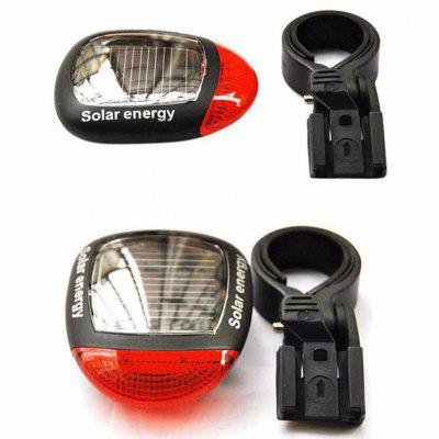 2 LED Solar Charging Safety Warning Riding Light Mountain Bike Accessories Bicycle Tail Lights
