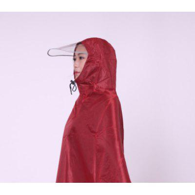 Adult Raincoat Electric Car Poncho Oxford Cloth Mirror Hole Plus Fertilizer To Increase Motorcycle Poncho Double Hat