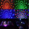 Car DJ Lamp USB Voice Control Mini LED 3W Colorful Rotation Crystal Magic Ball Light Remote Control - USB CABLE LENGTH 4 METERS