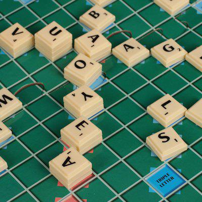 Educational Toys English Scrabble Game SCRABBLE Improve Words Children Learning English French Board Games