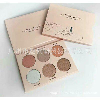 New Anna 6 Color High Light Repair Eye Shadow Plate @nastasia Glow Kit Repair Capacity Powder
