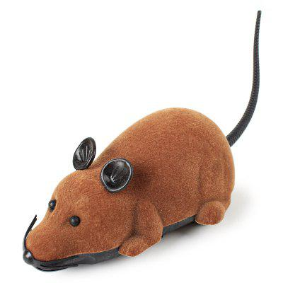Funny Cat Toy Flocking Remote Control Mouse
