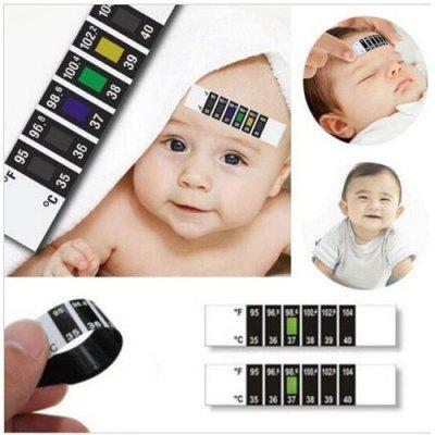3Pcs Baby Kids Forehead Strip Head Thermometer Fever Body Temperature Test Tool